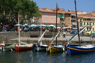 Catalan boats in Collioure harbour