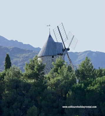 Collioure Windmill - Moulin de la Cortina