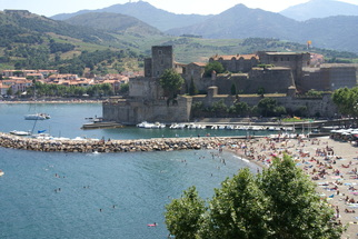Royal Palace and beach in Collioure