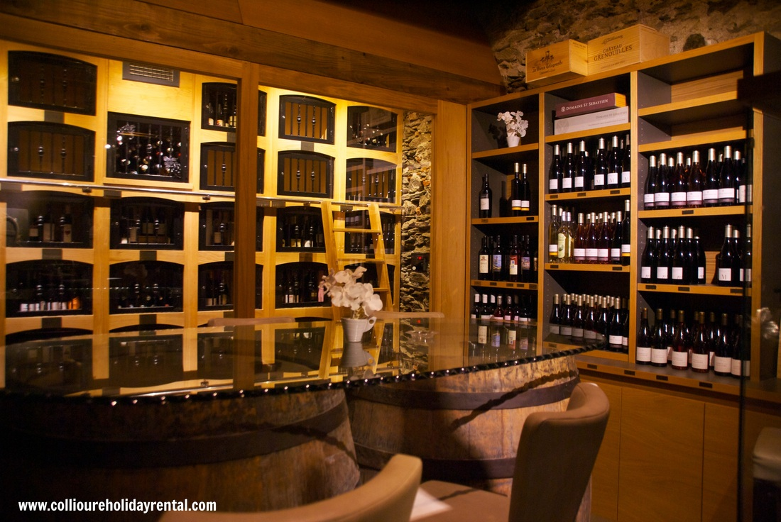 The wine cellar at Le Jardin de Collioure