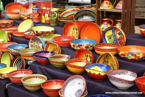 Colourful Catalan pottery