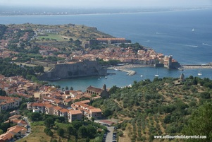 The view of Collioure from Fort Elme
